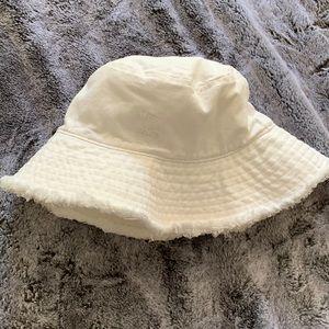 BlackBough Swimwear White Bucket Hat